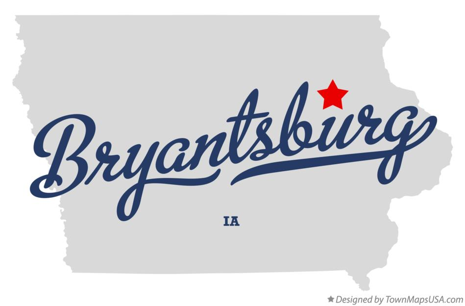 Map of Bryantsburg Iowa IA