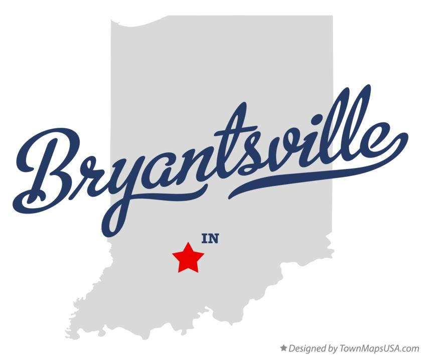 Map of Bryantsville Indiana IN