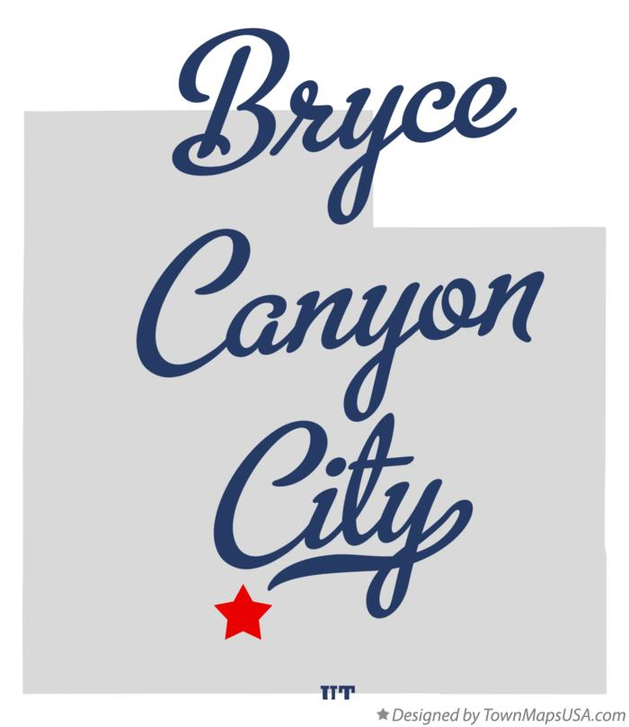 Map of Bryce Canyon City Utah UT