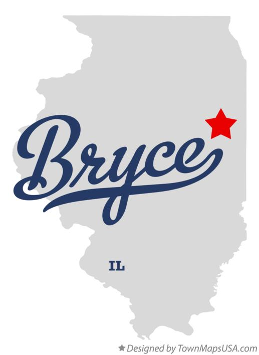 Map of Bryce Illinois IL