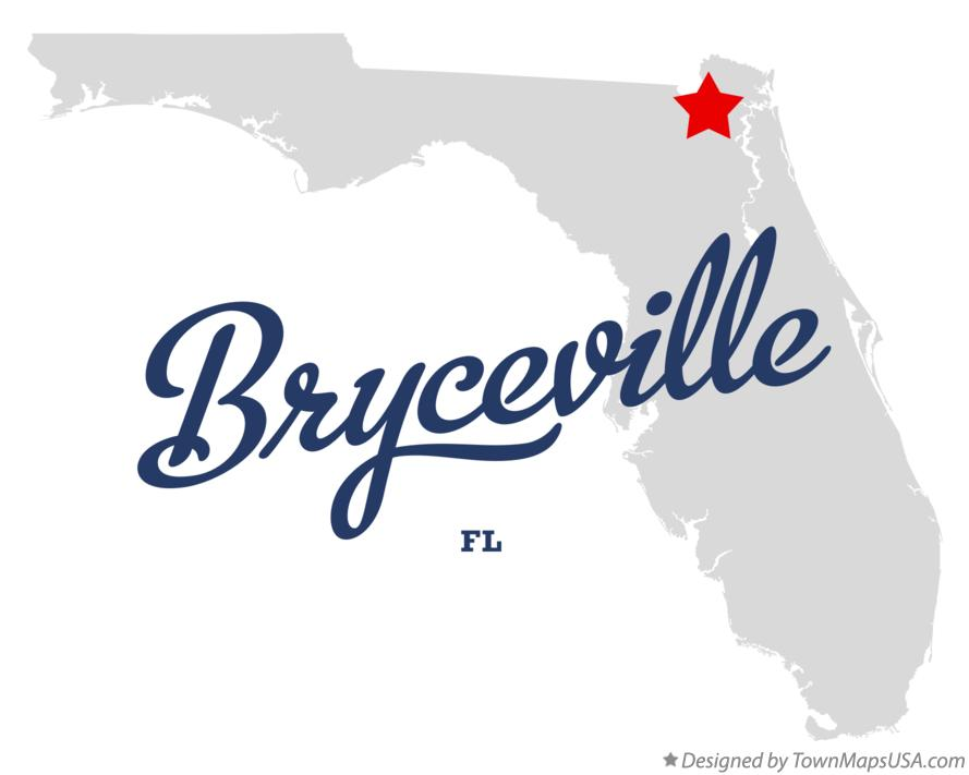 Map of Bryceville Florida FL
