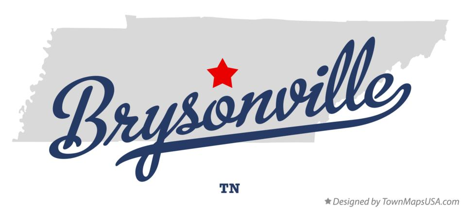 Map of Brysonville Tennessee TN