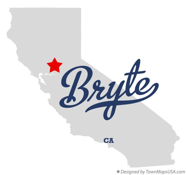 Map of Bryte California CA