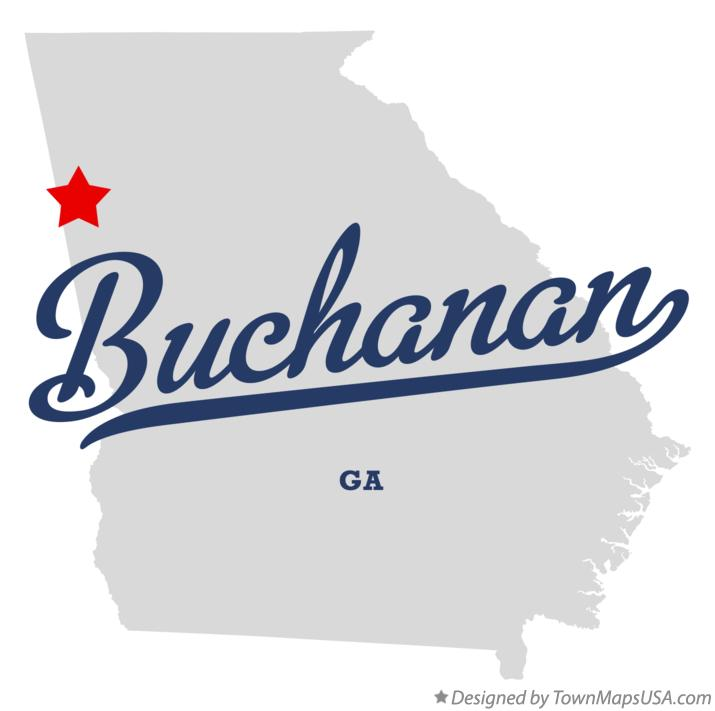 Austell Georgia Map Map of Buchanan Georgia ga
