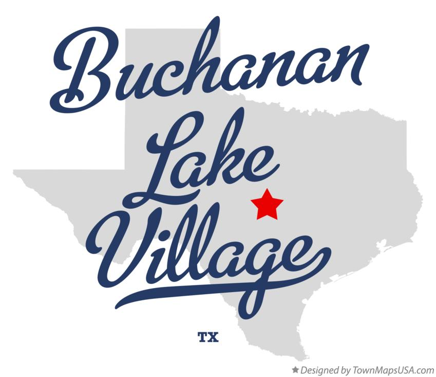 Map of Buchanan Lake Village Texas TX