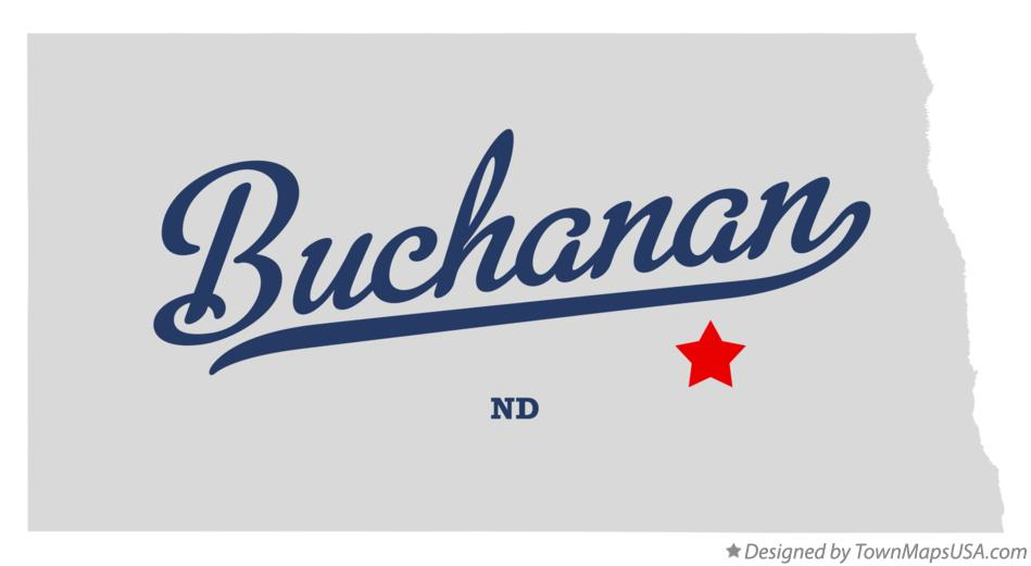 Map of Buchanan North Dakota ND