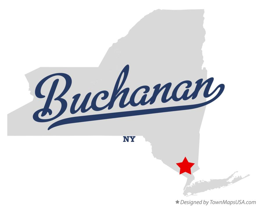 Map of Buchanan New York NY