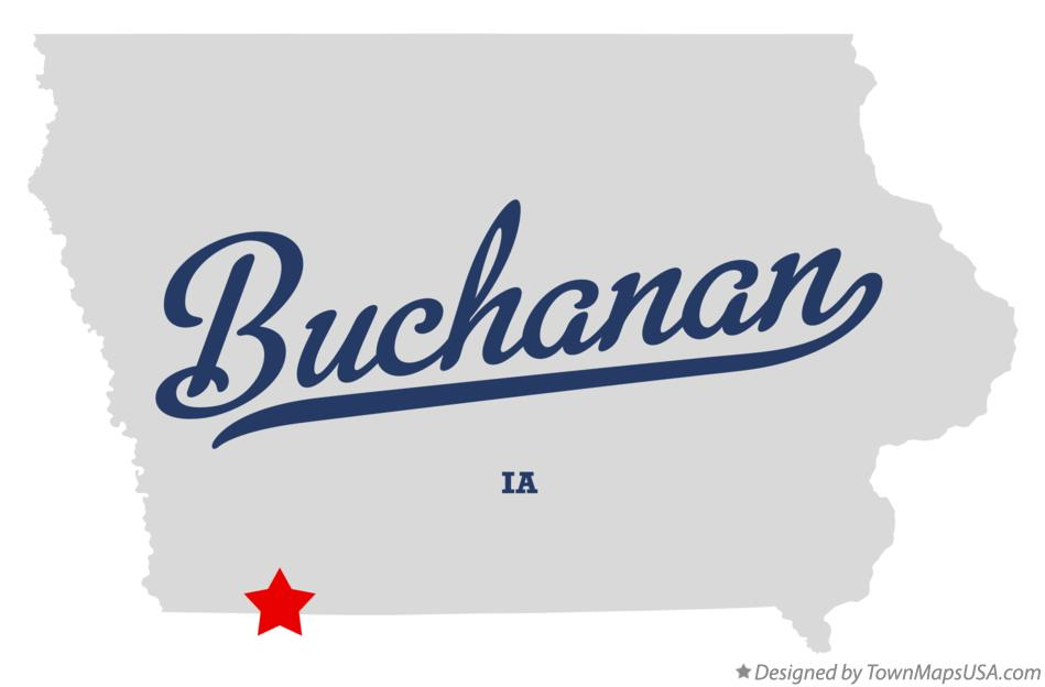Map of Buchanan Iowa IA