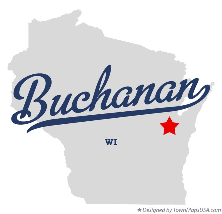 Map of Buchanan Wisconsin WI