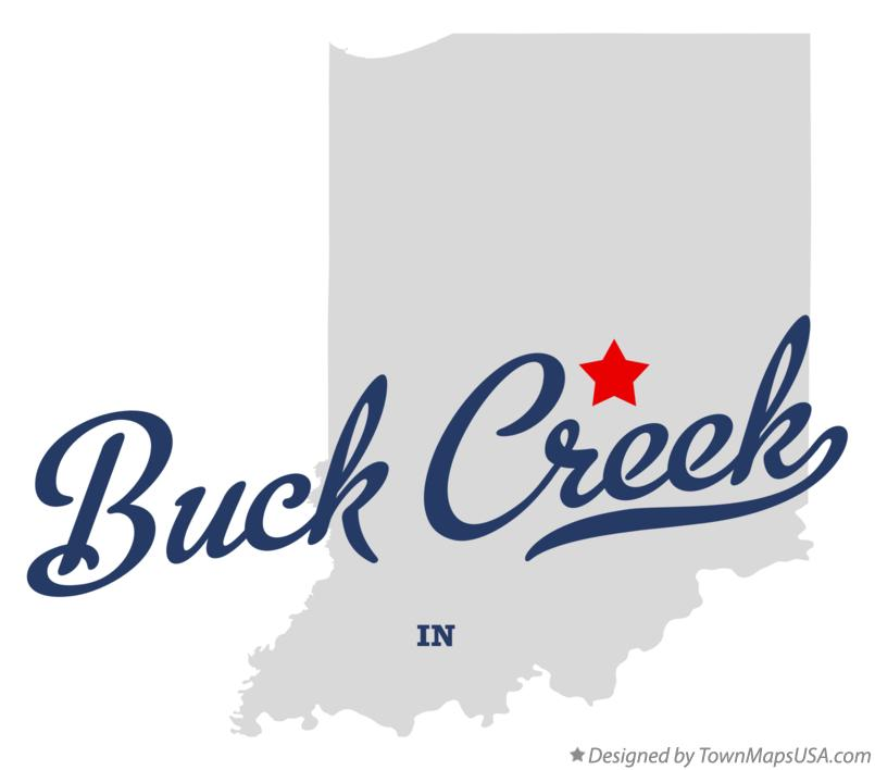 Map of Buck Creek Indiana IN