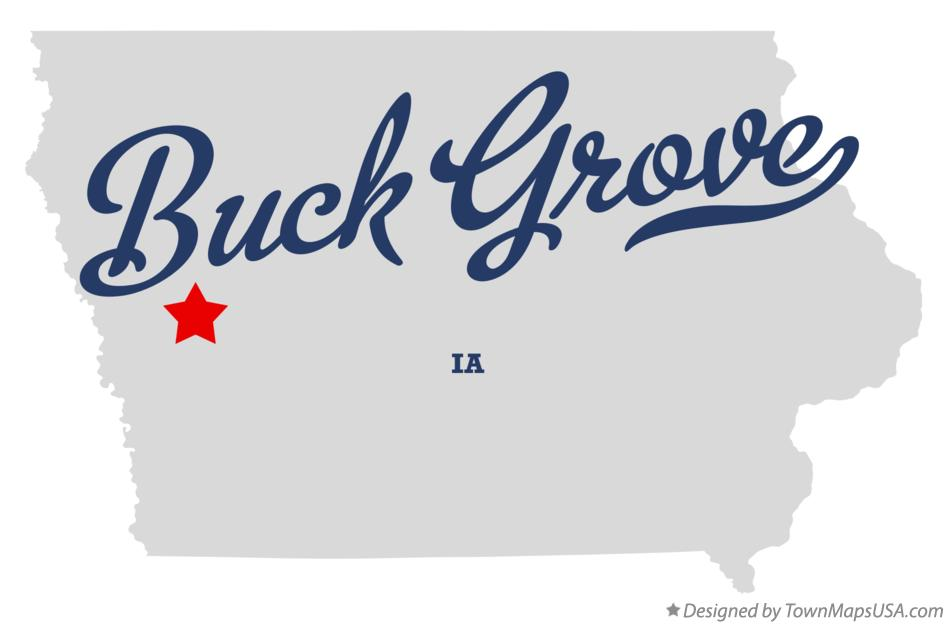 Map of Buck Grove Iowa IA