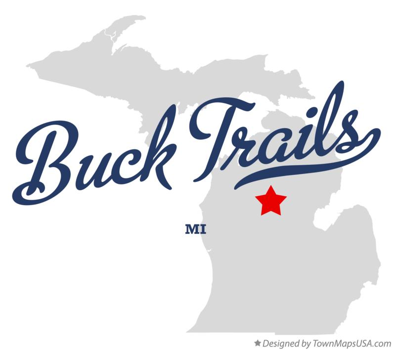 Map of Buck Trails Michigan MI