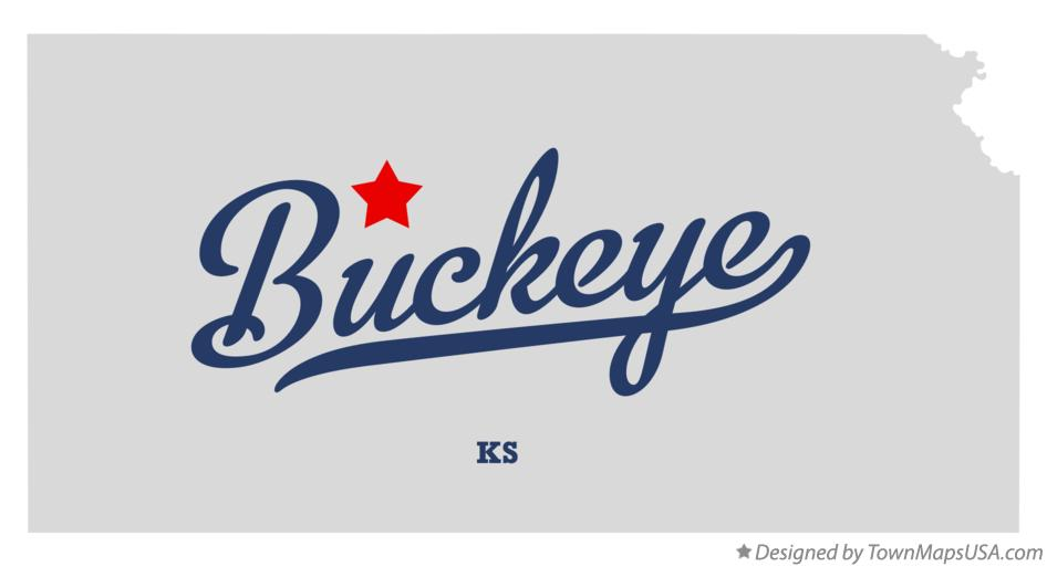 Map of Buckeye Kansas KS