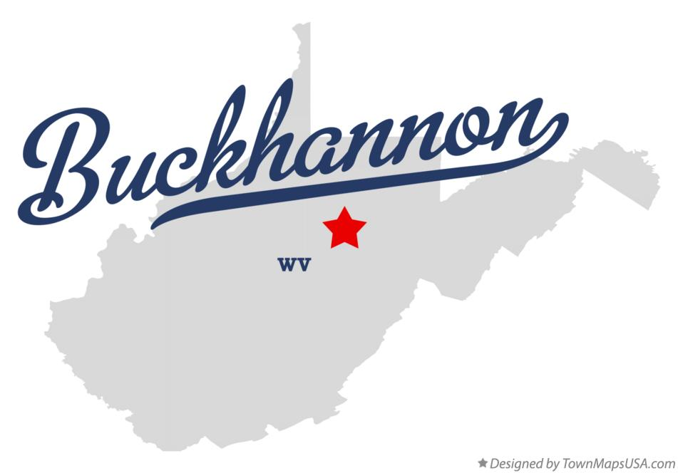 Map of Buckhannon West Virginia WV
