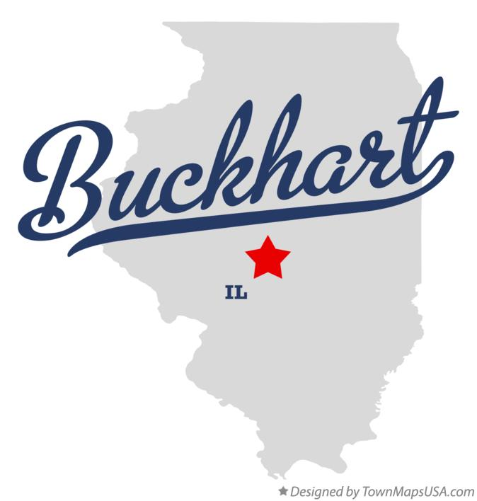 Map of Buckhart Illinois IL