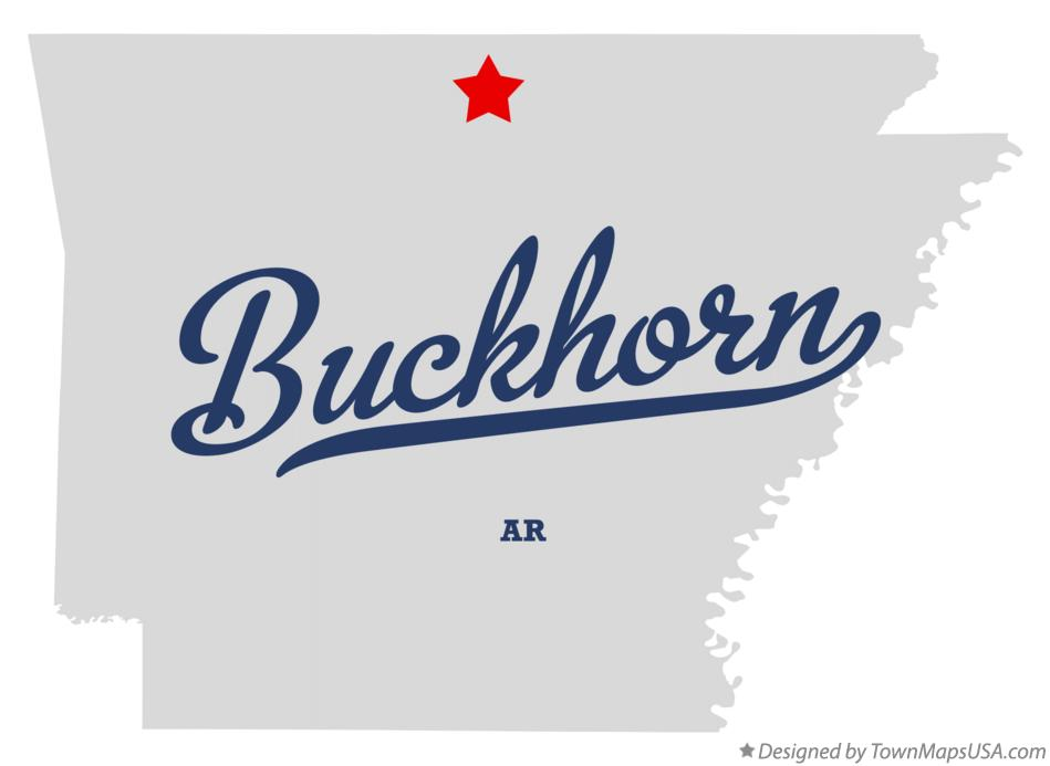 Map of Buckhorn Arkansas AR