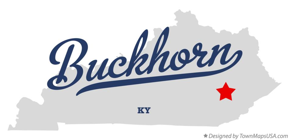 Map of Buckhorn Kentucky KY