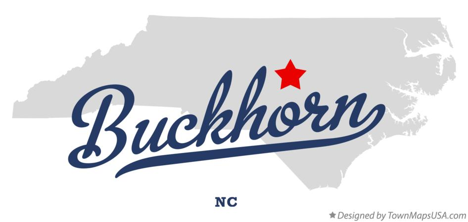 Map of Buckhorn North Carolina NC