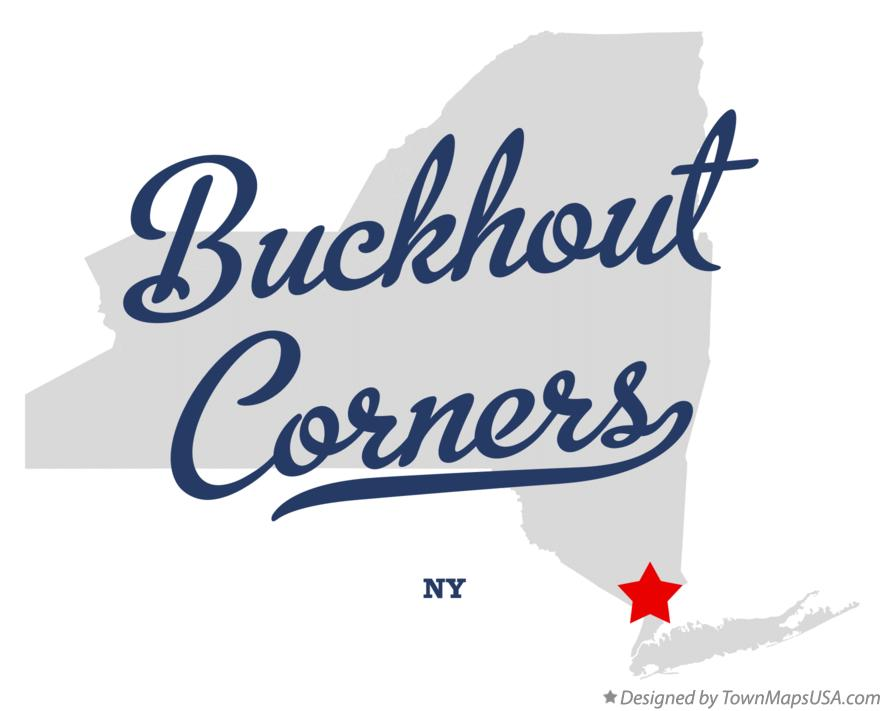 Map of Buckhout Corners New York NY