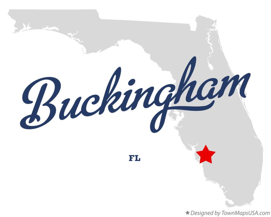 Map of Buckingham FL Florida