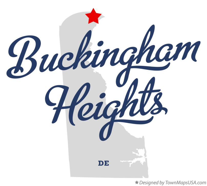 Map of Buckingham Heights Delaware DE