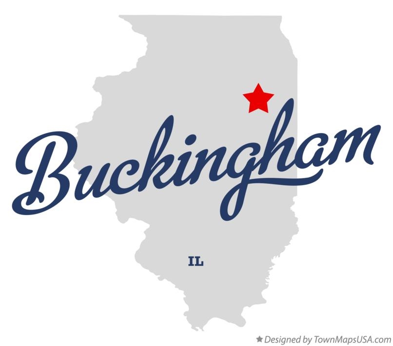 Map of Buckingham Illinois IL