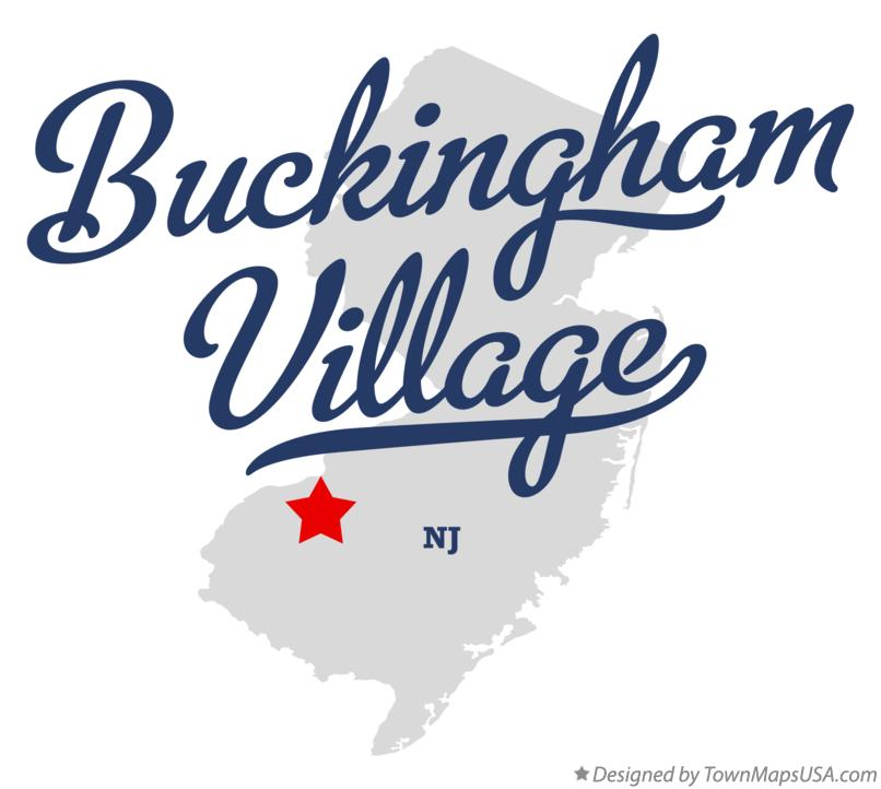 Map of Buckingham Village New Jersey NJ