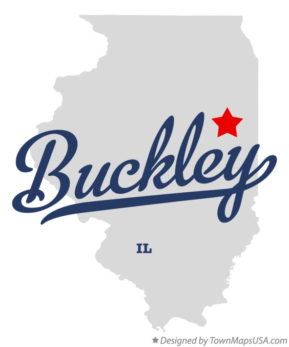 Map of Buckley Illinois IL