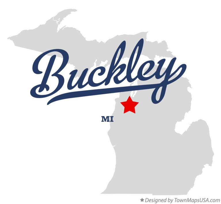 Map of Buckley Michigan MI