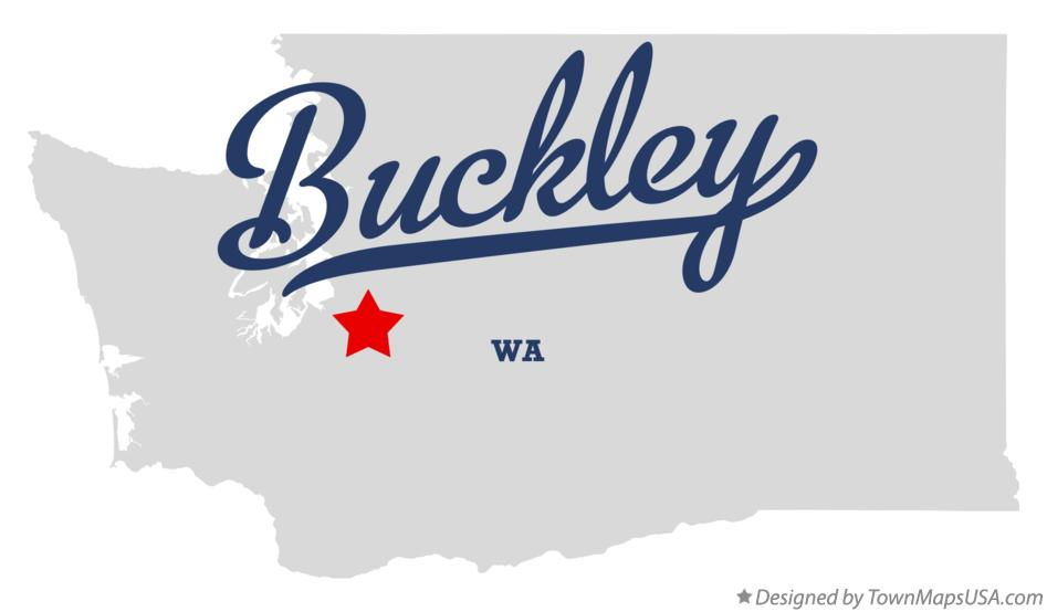 Map of Buckley, WA, Washington