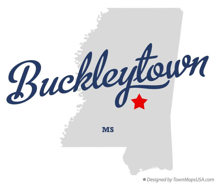 Map of Buckleytown Mississippi MS