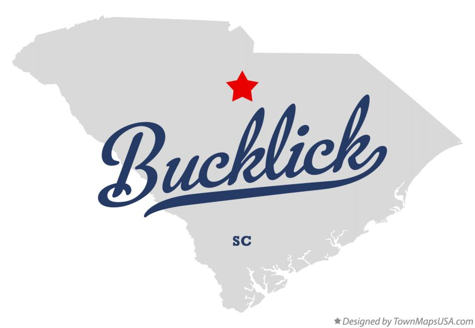 Map of Bucklick South Carolina SC