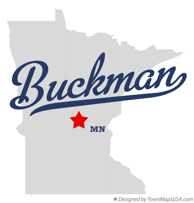 Map of Buckman Minnesota MN