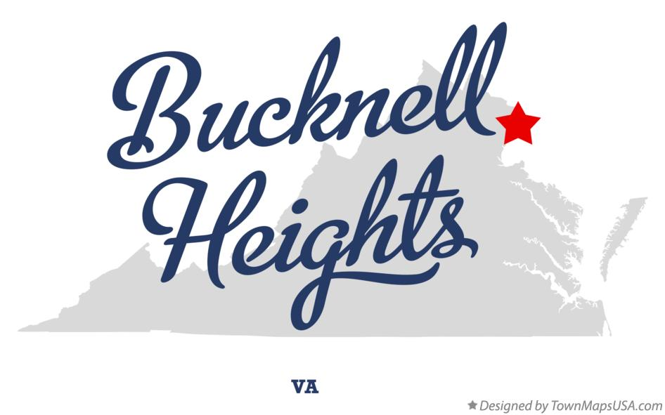Map of Bucknell Heights Virginia VA