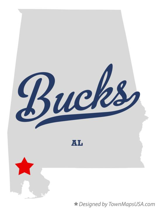 Map of Bucks Alabama AL