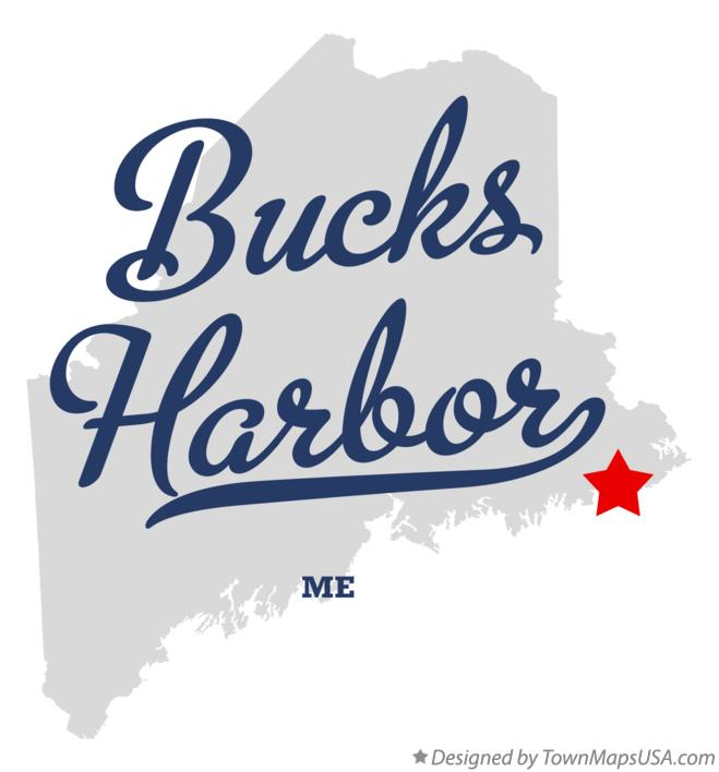 Map of Bucks Harbor Maine ME