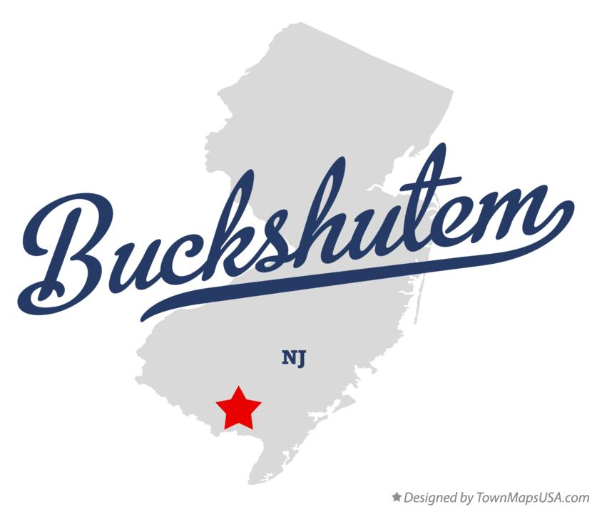 Map of Buckshutem New Jersey NJ