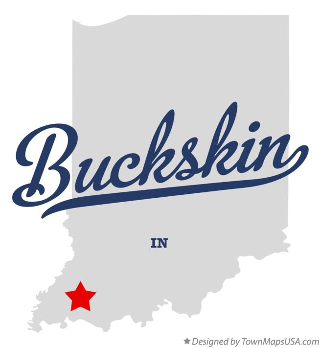 Map of Buckskin Indiana IN