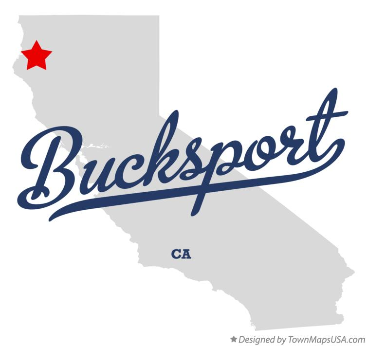 Map of Bucksport California CA