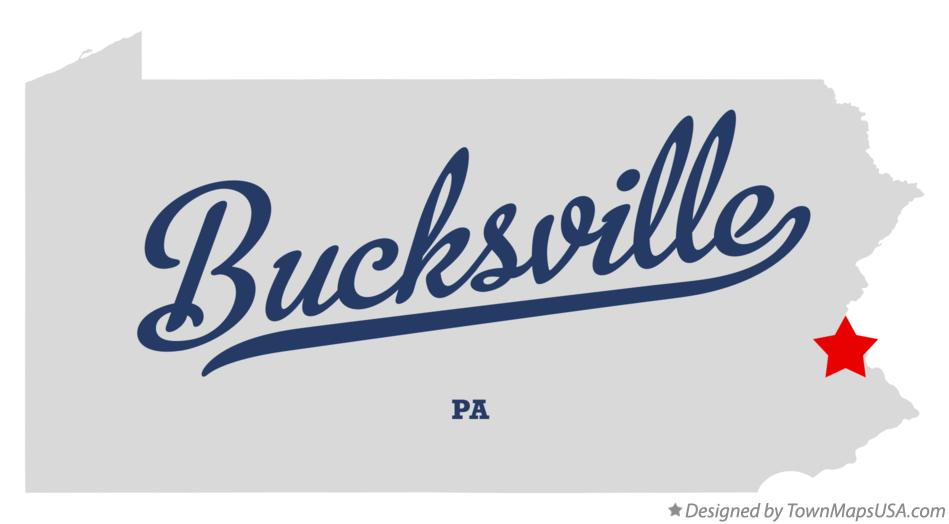 Map of Bucksville Pennsylvania PA