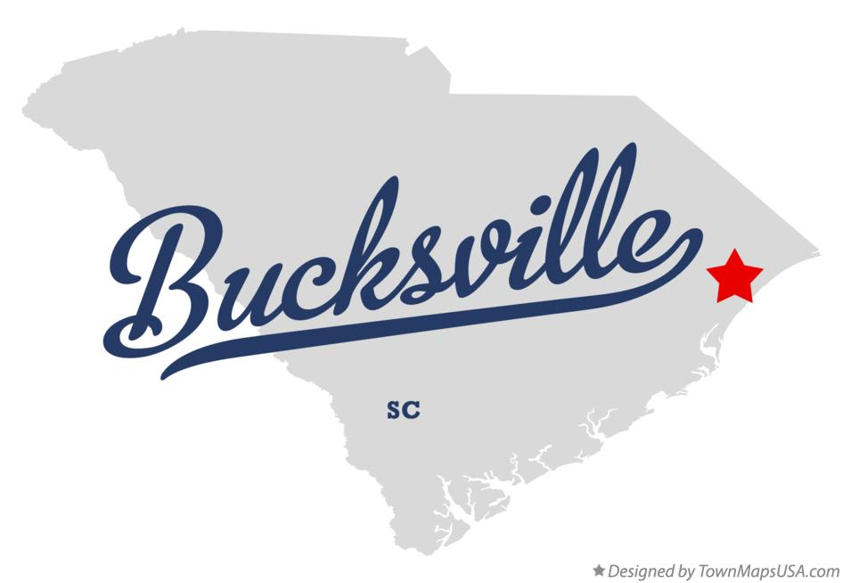 Map of Bucksville South Carolina SC