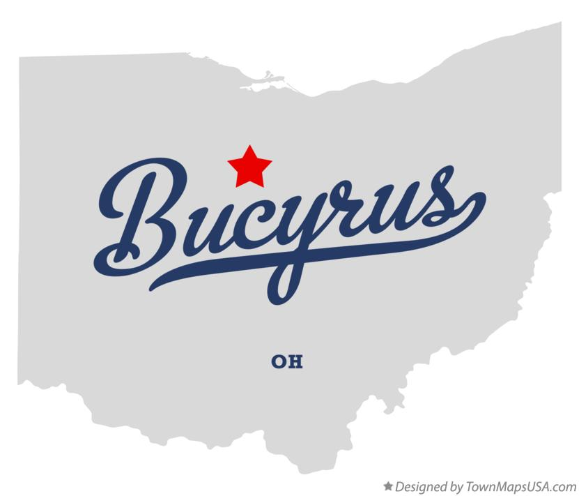 Map of Bucyrus Ohio OH