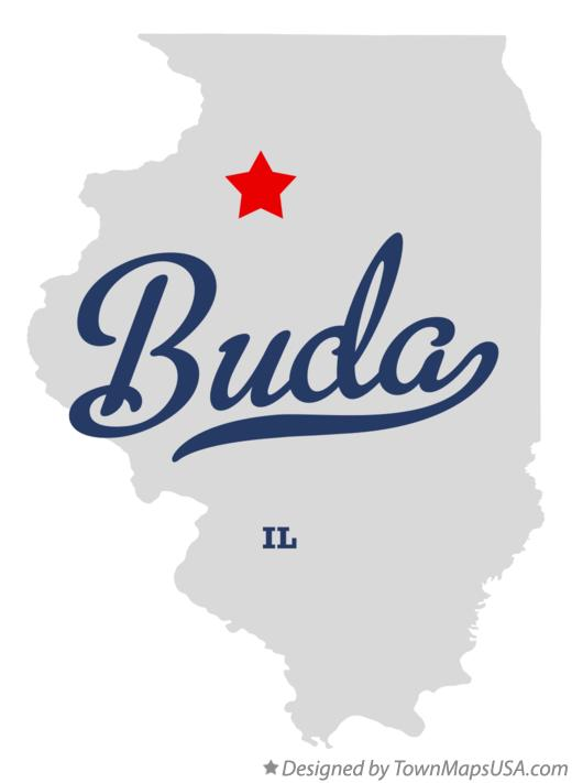 Map of Buda Illinois IL