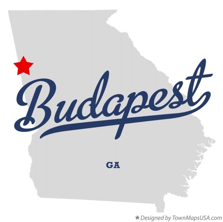 Map of Budapest Georgia GA