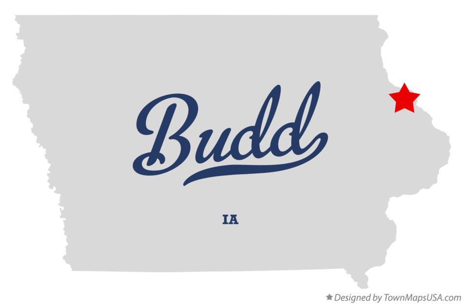 Map of Budd Iowa IA