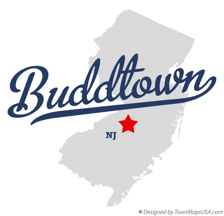 Map of Buddtown New Jersey NJ