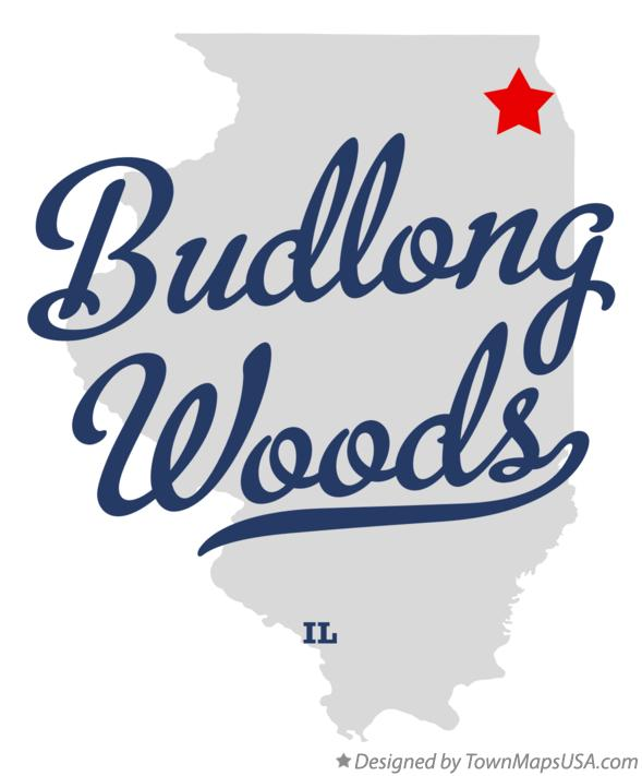 Map of Budlong Woods Illinois IL