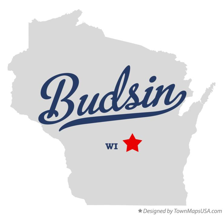 Map of Budsin Wisconsin WI