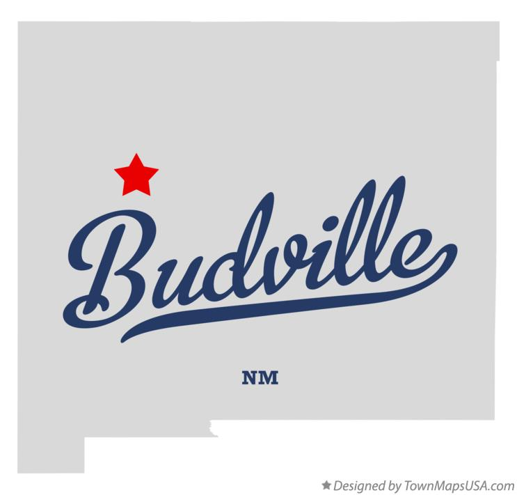Map of Budville New Mexico NM
