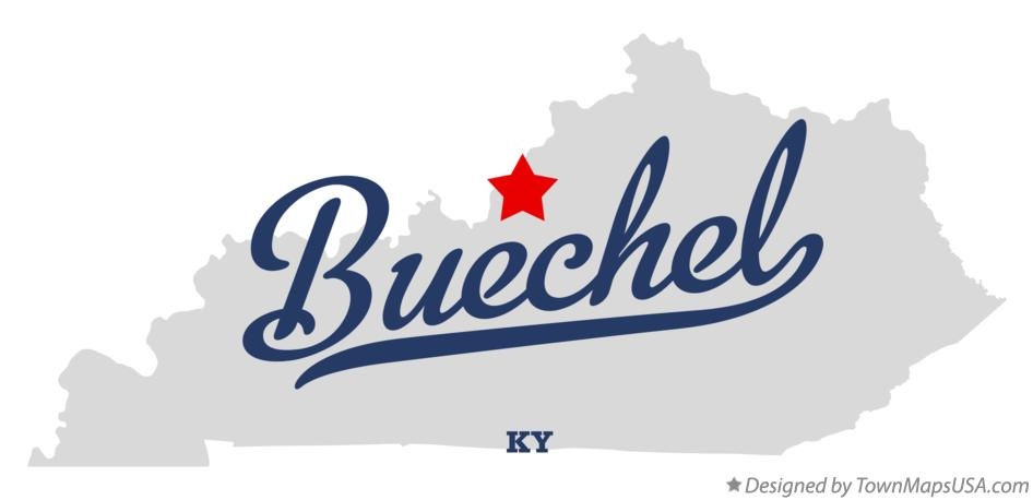 Map of Buechel Kentucky KY